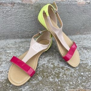 2/$16 Bright Strappy Flat Sandals